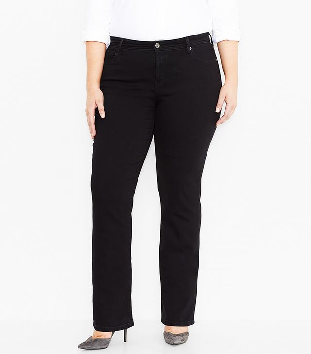 Levi's Plus 580 Defined Waist Straight Leg Jeans, Black