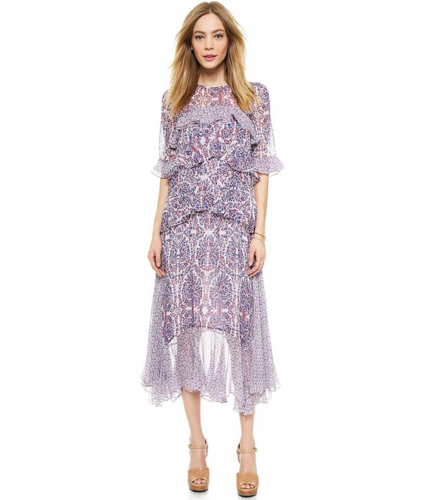 Rebecca Taylor Paisley Double-Layer Dress
