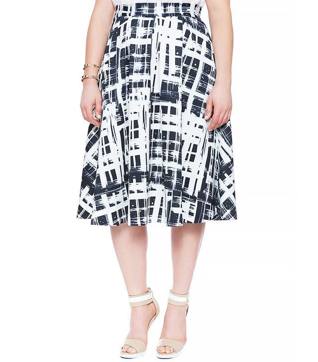 Eloquii Printed Scuba Midi Skirt