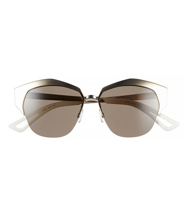 Dior Mirrors 55mm Cat Eye Sunglasses, Rose Gold/Palladium