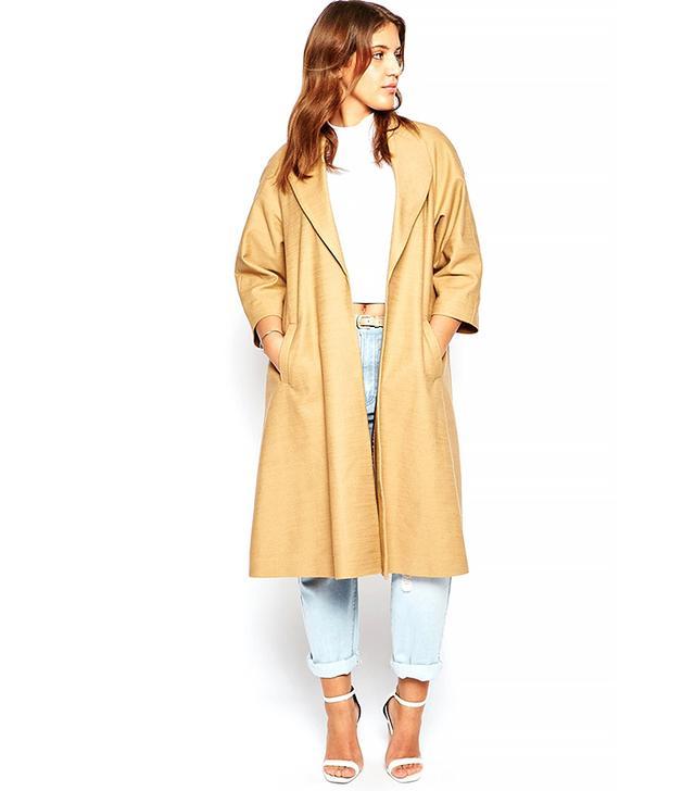 ASOS Curve Kimono Sleeve Coat