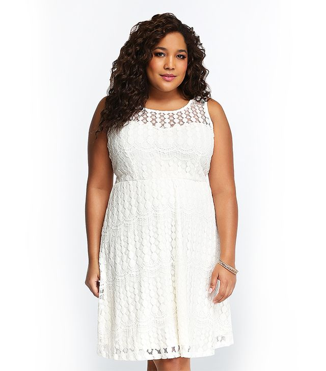 Torrid Lace Illusion Skater Dress