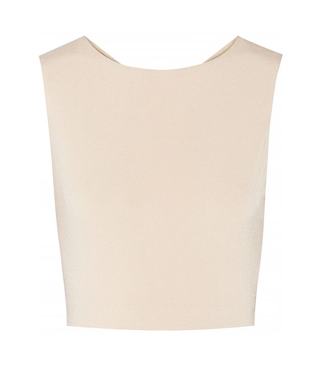 Alice & Olivia Cropped Cutout Crepe Top