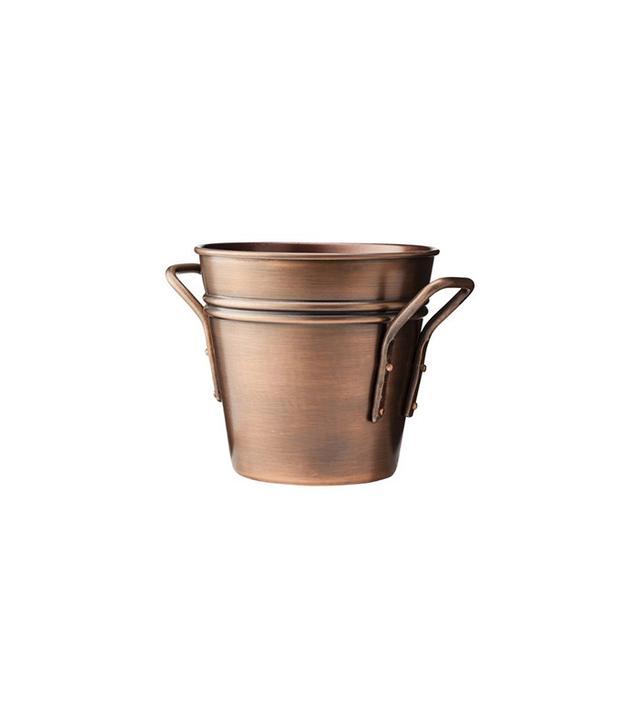 Smith & Hawken Round Copper Planter