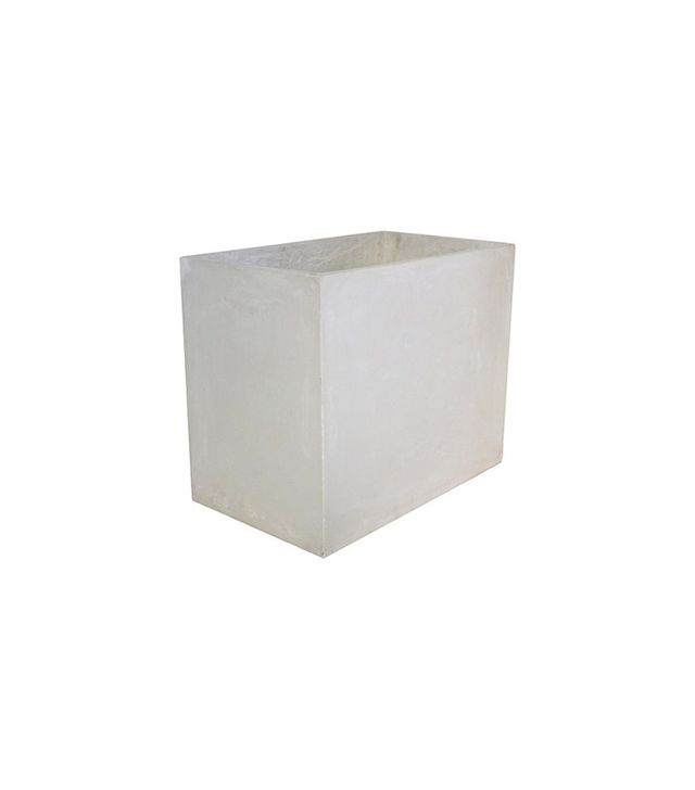 Threshold Rectangle Small Concrete Planter White