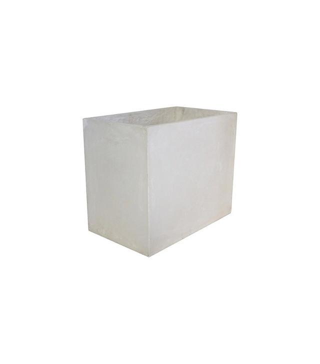 Threshold Rectangle Small Concrete Planter White