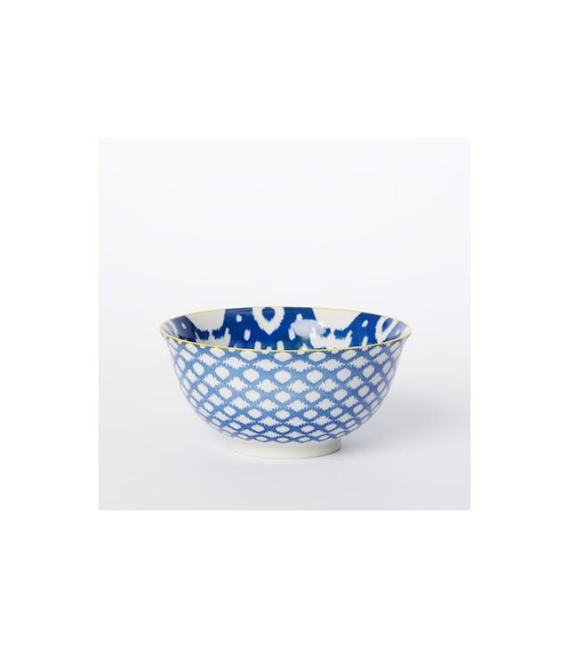 West Elm Pad Printed Served Bowls Ikat