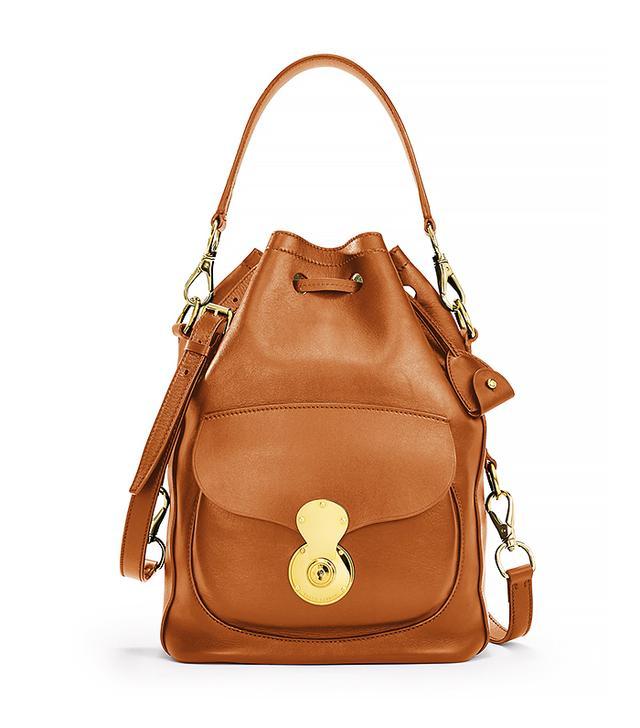 Ralph Lauren Ricky Drawstring Bag in Gold