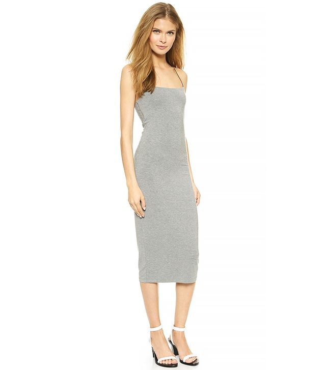 T by Alexander Wang Strappy Tank Dress in Grey