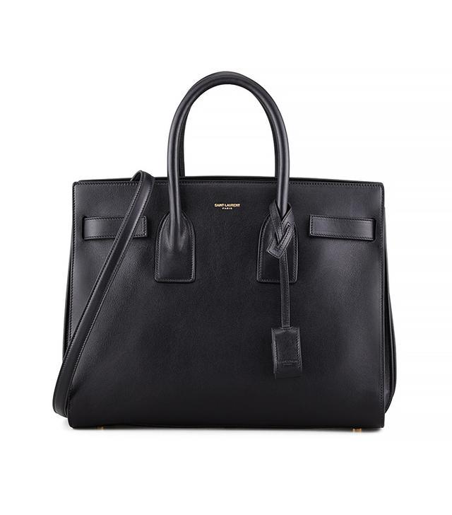 Saint Laurent Sac du Jour Small Carryall Bag in Black
