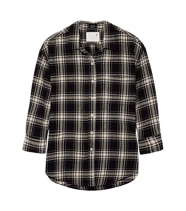 R13 Oversized Plaid Cotton Shirt