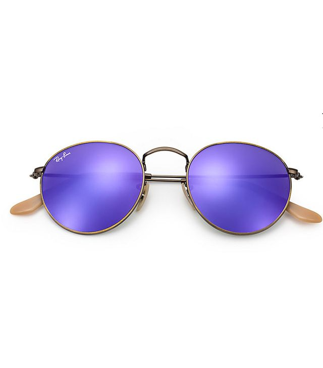 Ray-Ban Round Flash Lenses Sunglasses