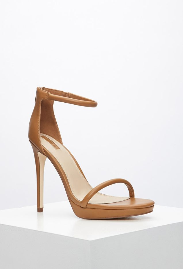 Forever 21 Faux Leather Ankle Strap Sandals