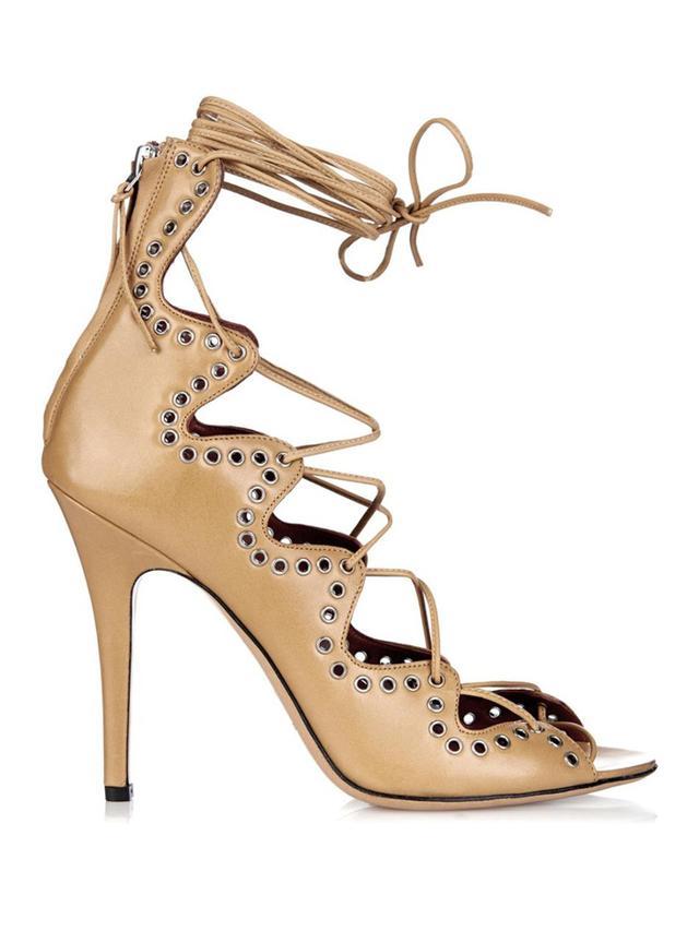 Isabel Marant Lelie Lace-Up Leather Sandals