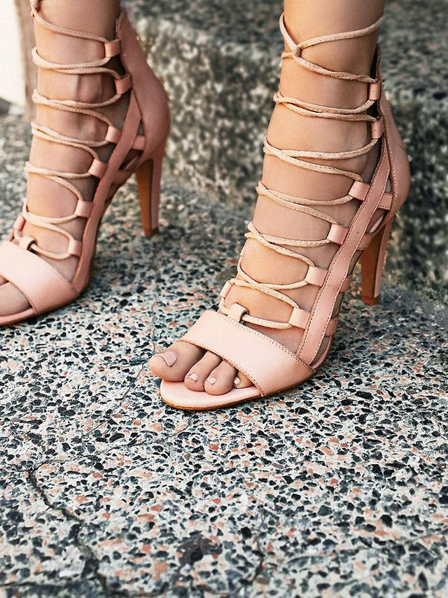 Sixty Seven Dusk to Dawn Lace Up Heels