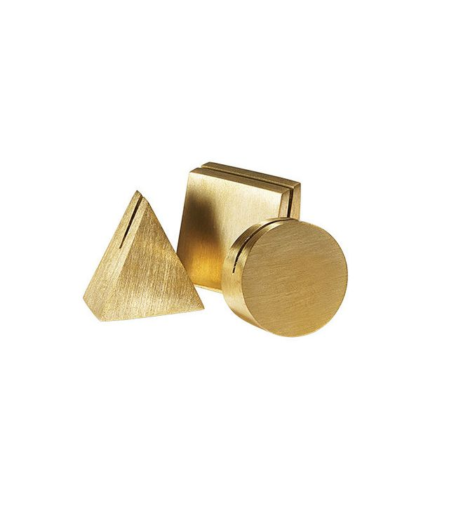 Yield Design Co. Geo Brass Photo Stands Set