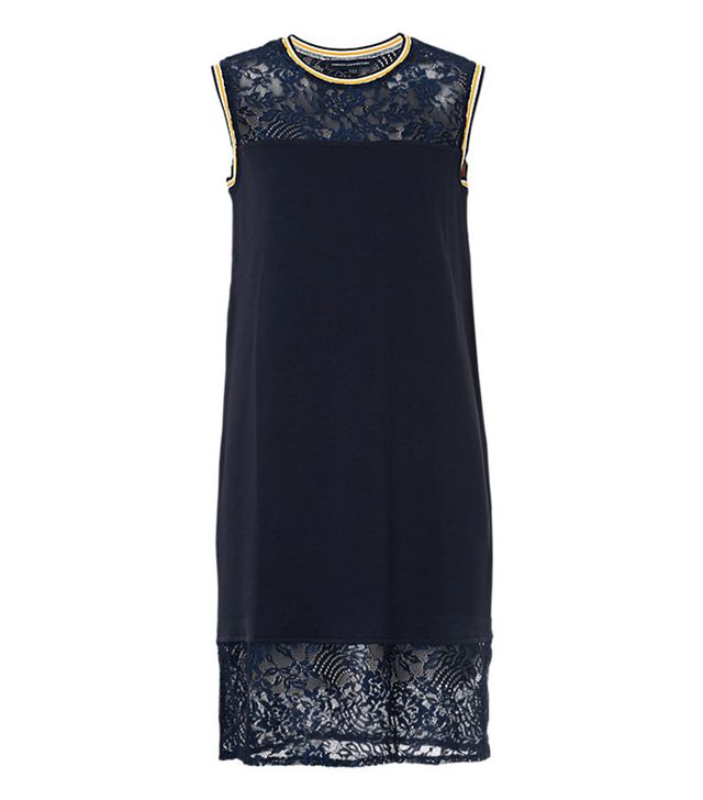 French Connection Fast Hannah Lace Short-Sleeve Dress