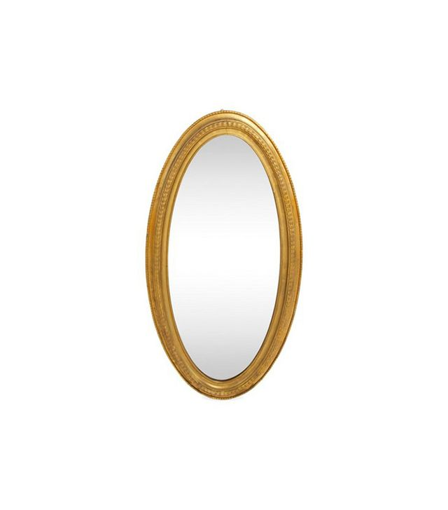 One Kings Lane Antique Oval Gilt Mirror