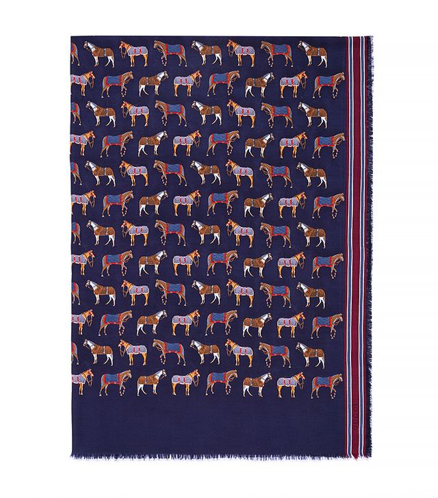 Gucci Horse Print Modal Silk Stole