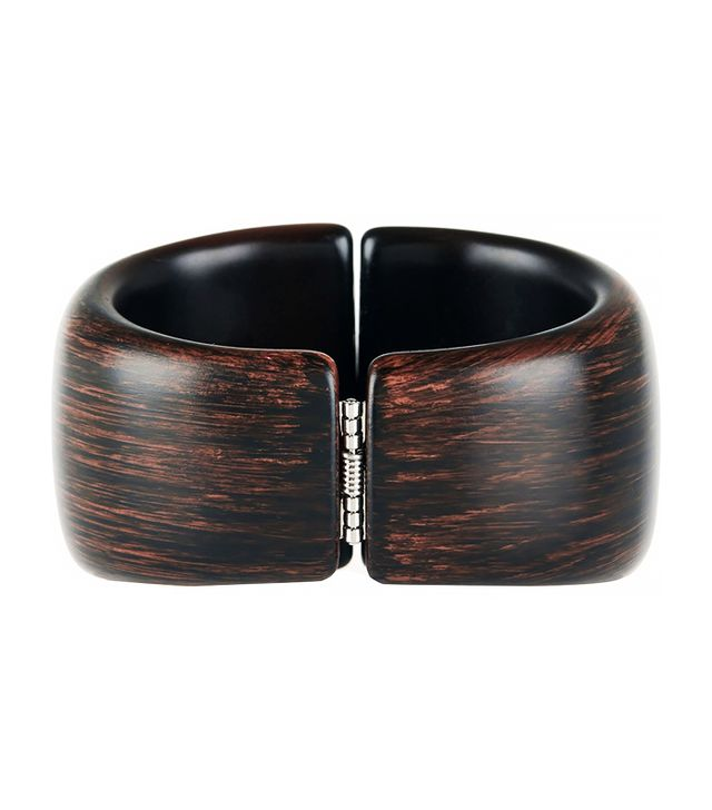 Kenneth Jay Lane Faux Wood Bangle