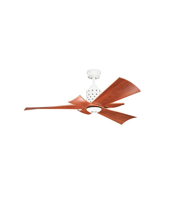 Kichler Frey Ceiling Fan in White Finish With Cherry Blades