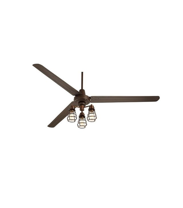 Euro Style Lighting Turbina XL Bendlin Cage Oil-Rubbed Ceiling Fan