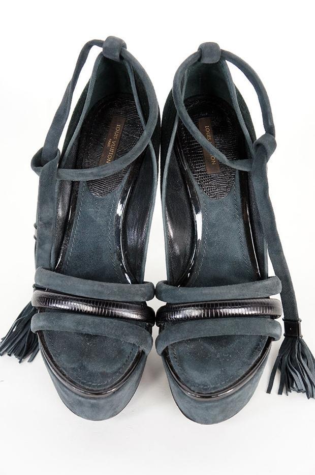 Louis Vuitton Suede Platform Heels