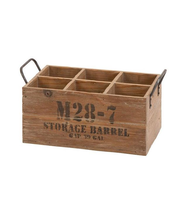 Home Decorators Rustic Wood Wine Crate
