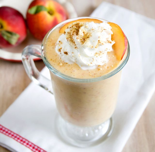 Vegan Peach Cobbler Milkshake