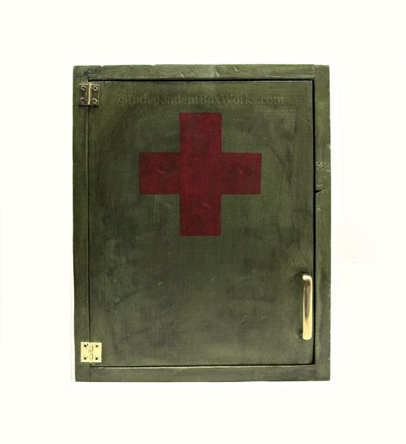 Etsy Military Inspired First Aid Cabinet