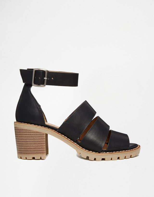 Truffle Collection Zada Strappy Heeled Sandals, Black