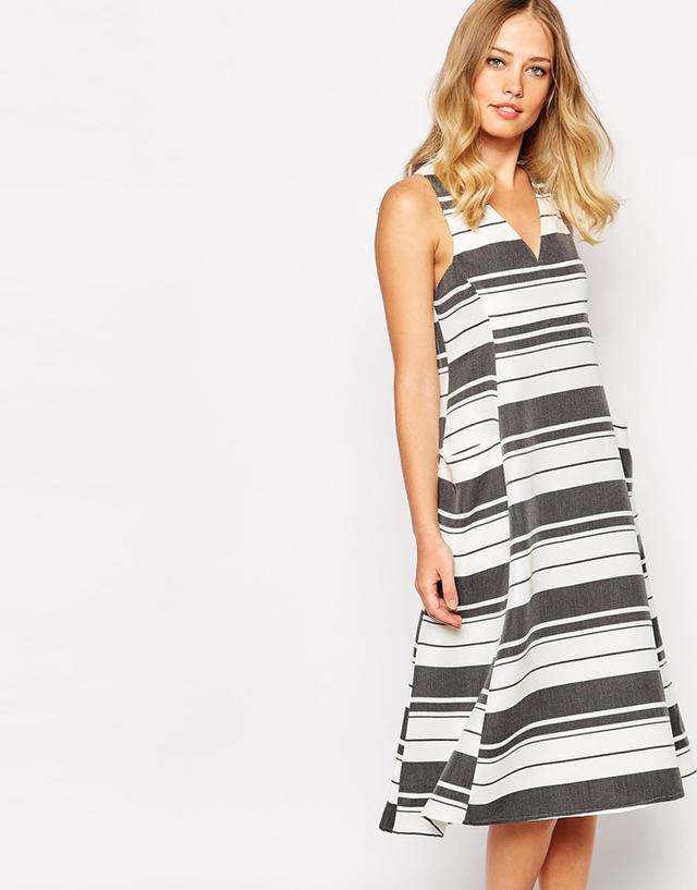 Whistles Hayley Stripe Midi Dress