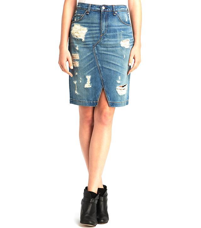 Rag & Bone/Jean Denim Pencil Skirt
