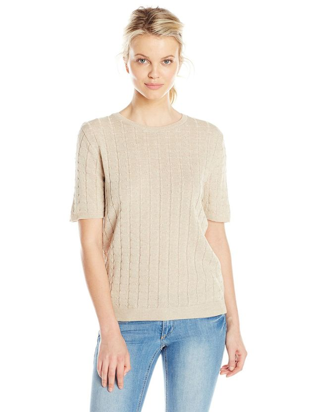 Alfred Dunner Missy Short Sleeve Sweater