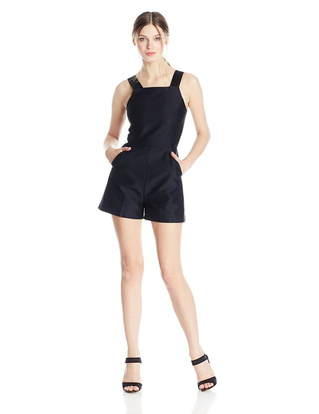 French Connection Paradise Satin Romper