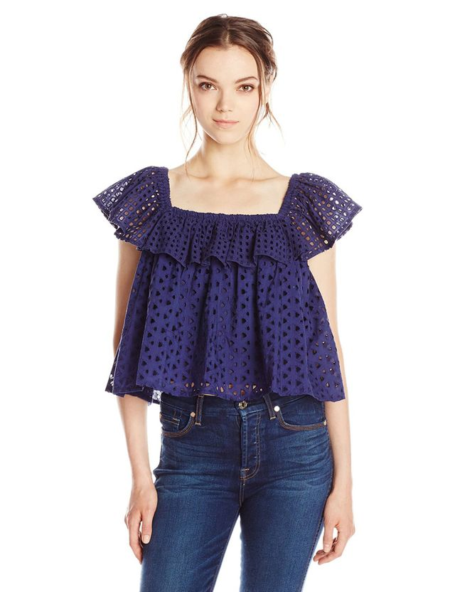 Rebecca Minkoff Celestine Eyelet Off-Shoulder Blouse