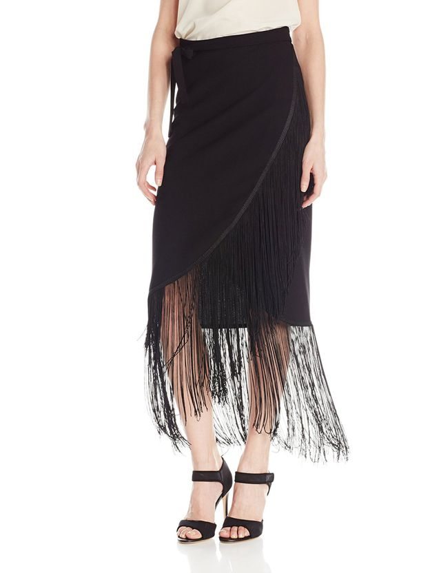 Sam Edelman Fringed Wrap Skirt