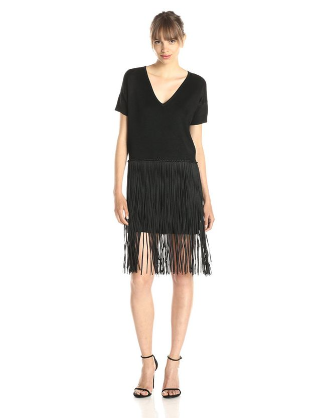 French Connection Spotlight Fringe Dress