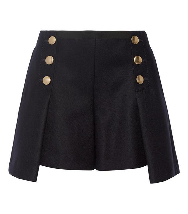 Sacai Luck Wool-Felt Shorts