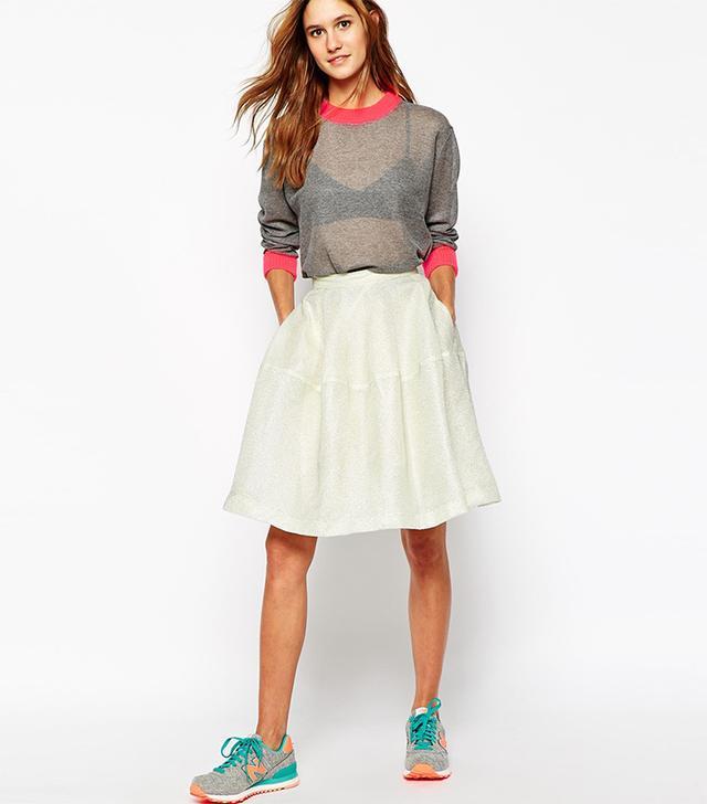 Paul & Joe Sister Full Skirt with Metallic Overlay
