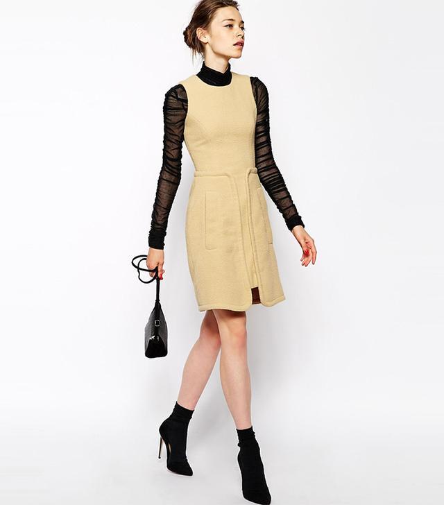 ASOS Antipodium Perpetua Dress in Fleece