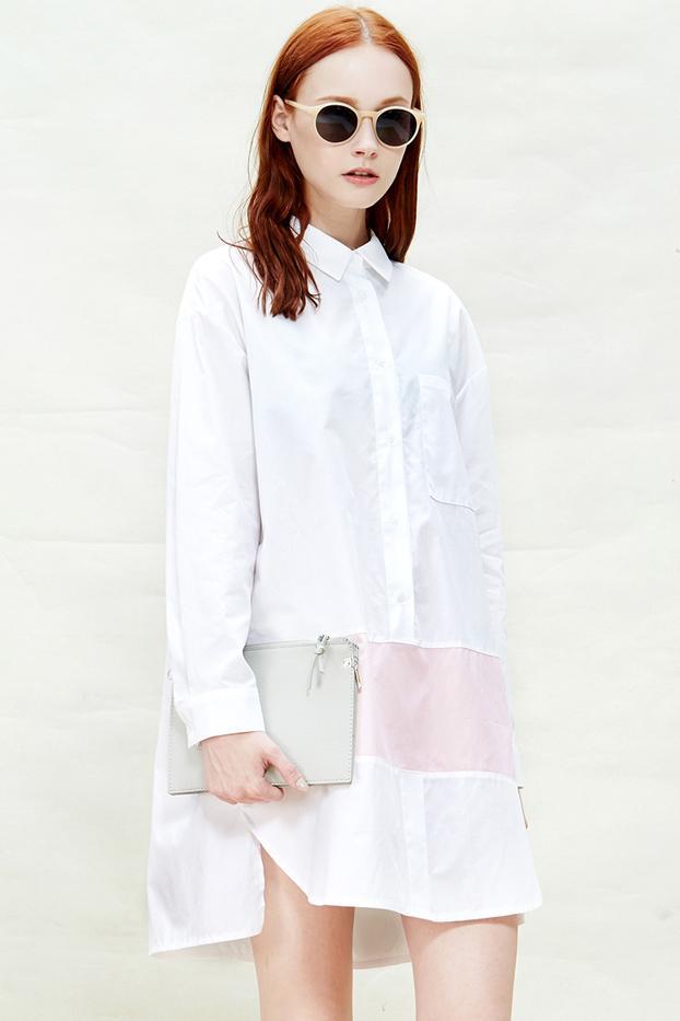 A Common Space Minimal White Shirtdress