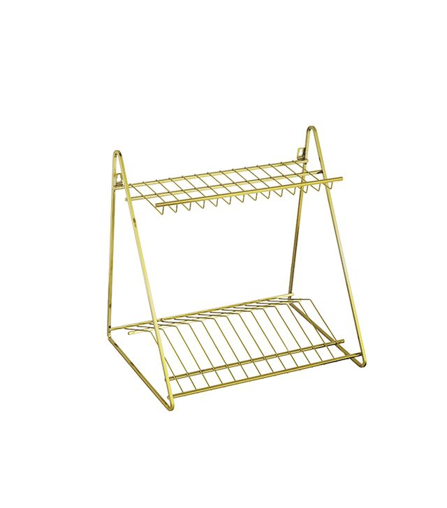 CB2 Gold Dish Rack