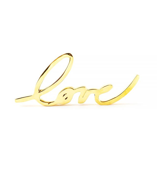 West Elm Brass Love Object