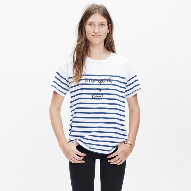 Madewell et Sézane Paris Mon Amour T-Shirt