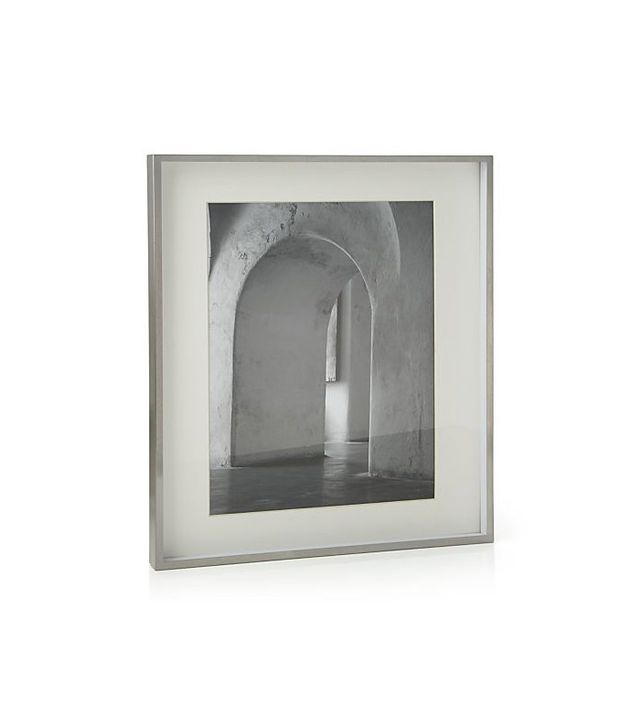 Crate and Barrel Brushed Silver Picture Frame