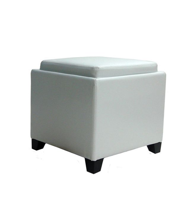 Armen Living Storage Ottoman with Tray
