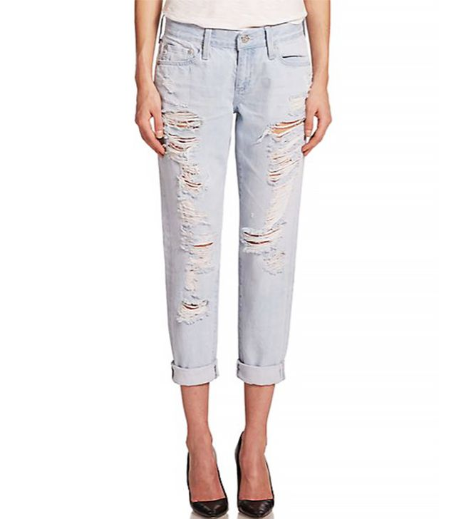 AG Nikki Distressed Relaxed Skinny Crop Jeans