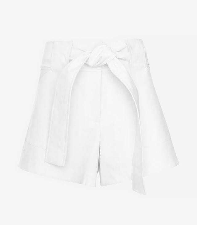Derek Lam 10 Crosby Tie Waist Shorts