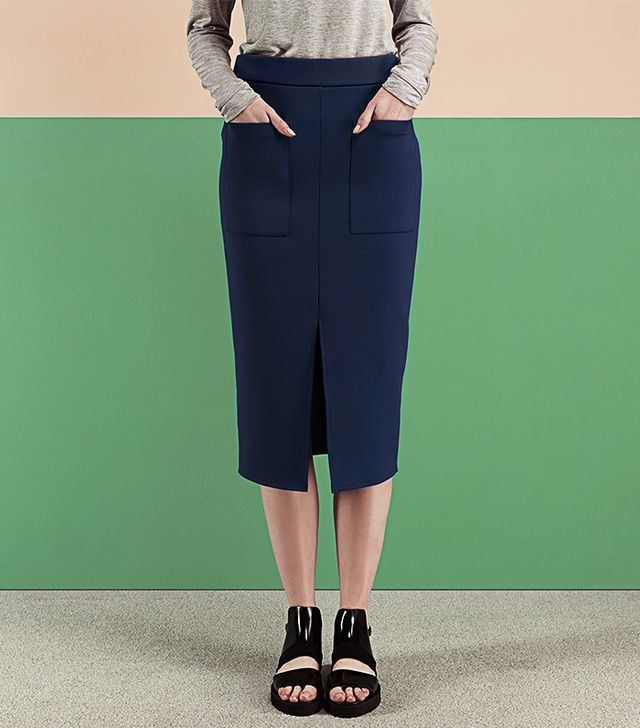 Finery London Highbury Jersey Pencil Midi Skirt